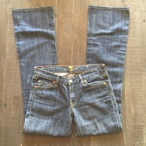 7 For All Mankind Dark Wash Boot Cut Jeans 27X32